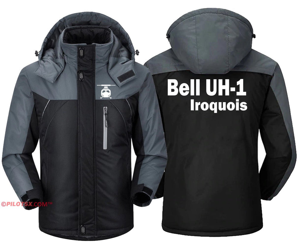 BELL UH-1 IROQUOIS HELICOPTER - Black Gray / S - Windbreaker