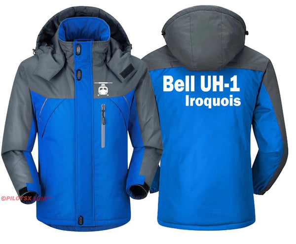 BELL UH-1 IROQUOIS HELICOPTER - Blue Gray / S - Windbreaker
