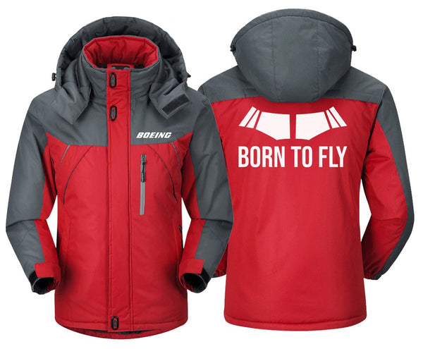 BORN TO FLY DESIGNED WINDBREAKER - Red Gray / XS -
