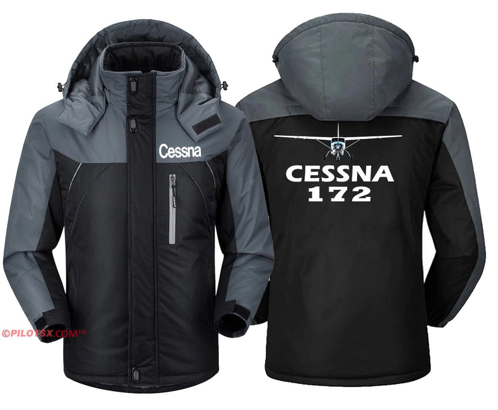 CESSNA-172 - Black Gray / S - Windbreaker Jackets