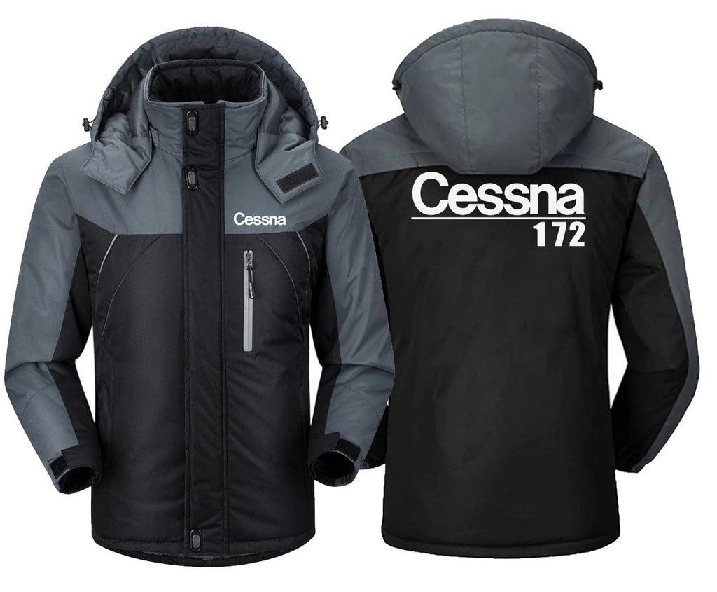 CESSNA 172 DESIGNED - Black Gray / XS - Windbreaker Jackets