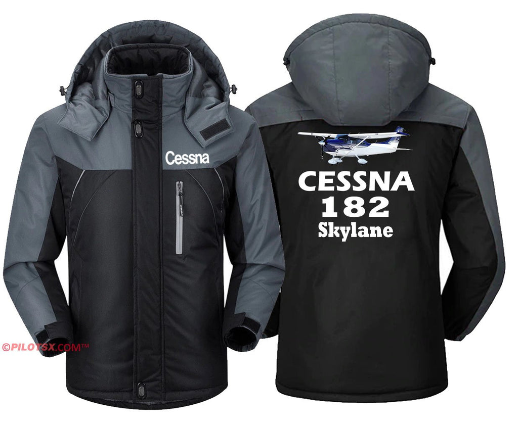 CESSNA 182 SKYLANE - Black Gray / S - Windbreaker Jackets