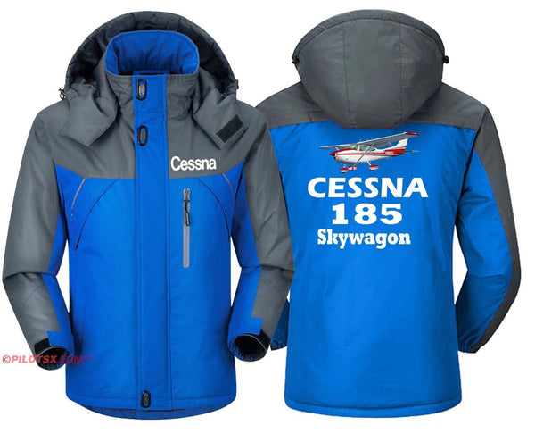 CESSNA 185 SKYWAGON - Blue Gray / S - Windbreaker Jackets