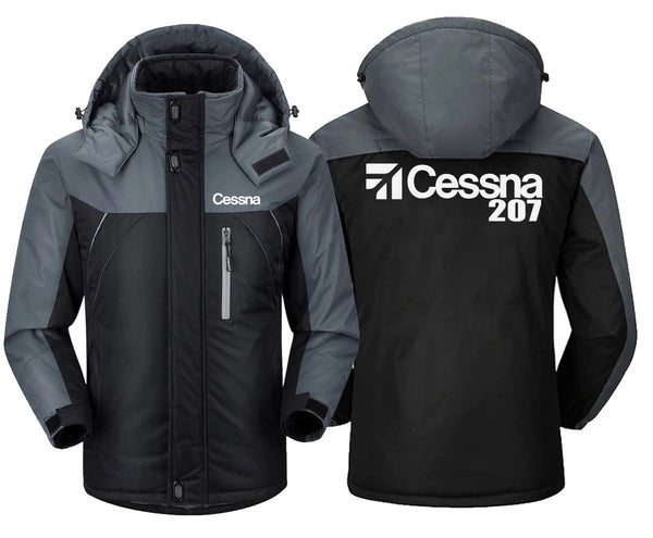 CESSNA 207 DESIGNED - Black Gray / XS - Windbreaker Jackets