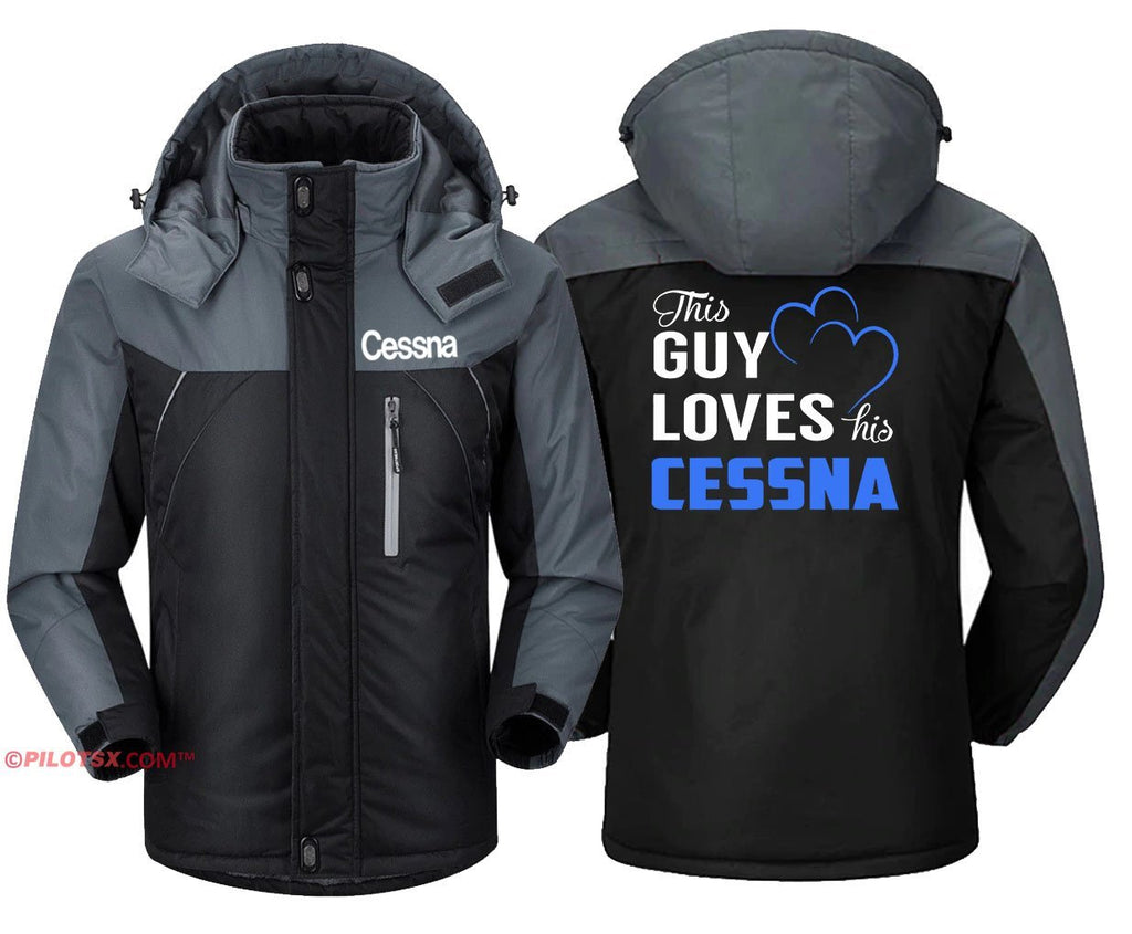 CESSNA - Black Gray / S - Windbreaker Jackets