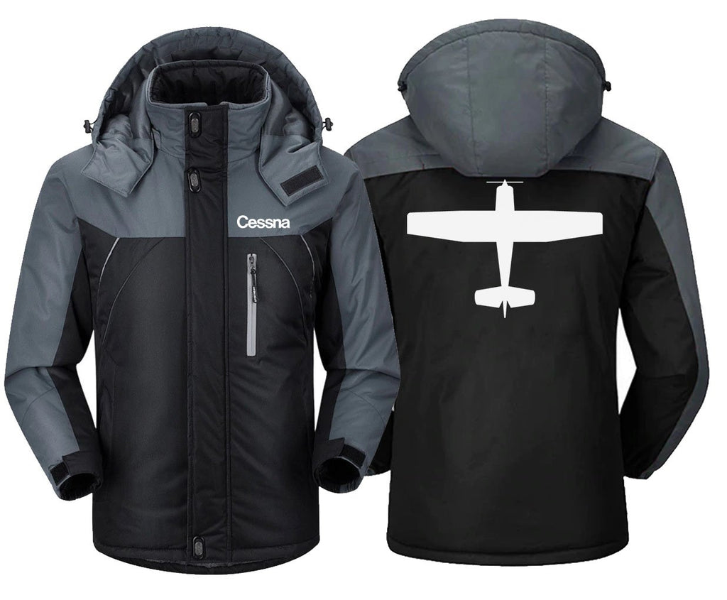 CESSNA DESIGNED - Black Gray / XS - Windbreaker Jackets