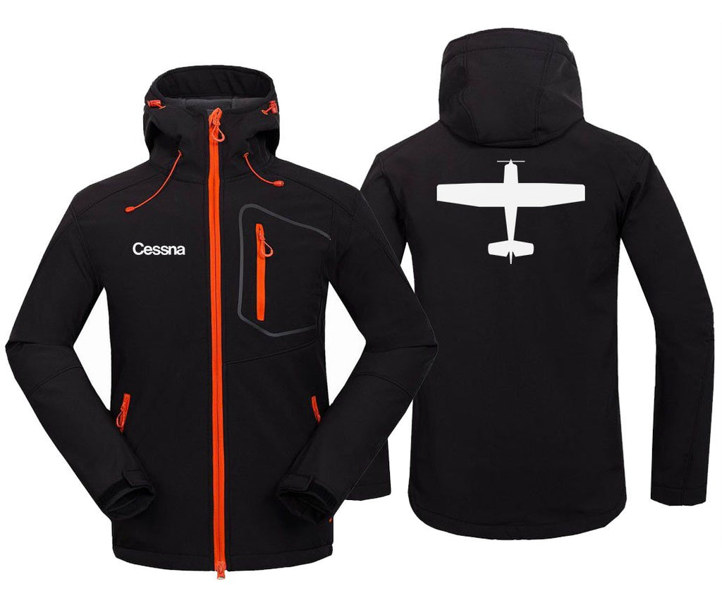 CESSNA DESIGNED FLEECE - Black / S - Hoodie Jacket