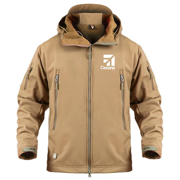 CESSNA LOGO DESIGNED MILITARY FLEECE - Sand / S - Military