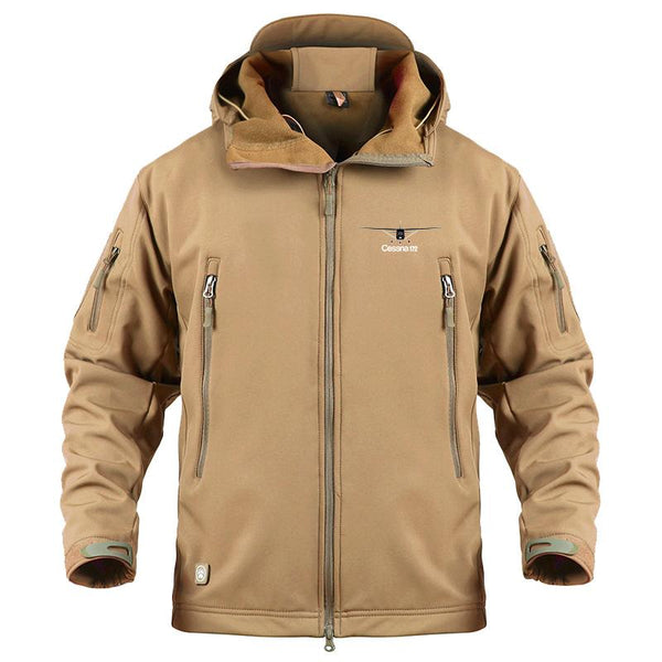 CESSNA172 DESIGNED MILITARY FLEECE - Sand / S - Military