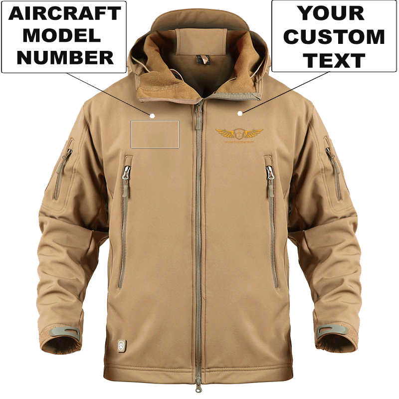 AIRPLANE LOVER Military Fleece Sand / S CUSTOM AIRCRAFT MODEL NUMBER AND WING MILITARY FLEECE