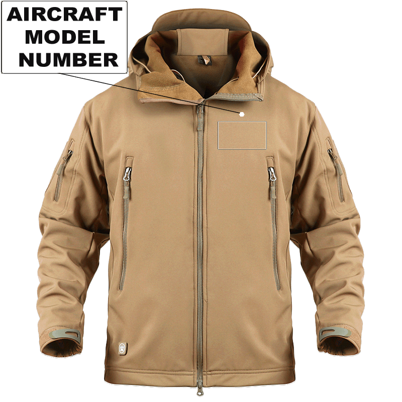 AIRPLANE LOVER Military Fleece Sand / S CUSTOM AIRCRAFT MODEL NUMBER - WARM TACTICAL MILITARY FLEECE
