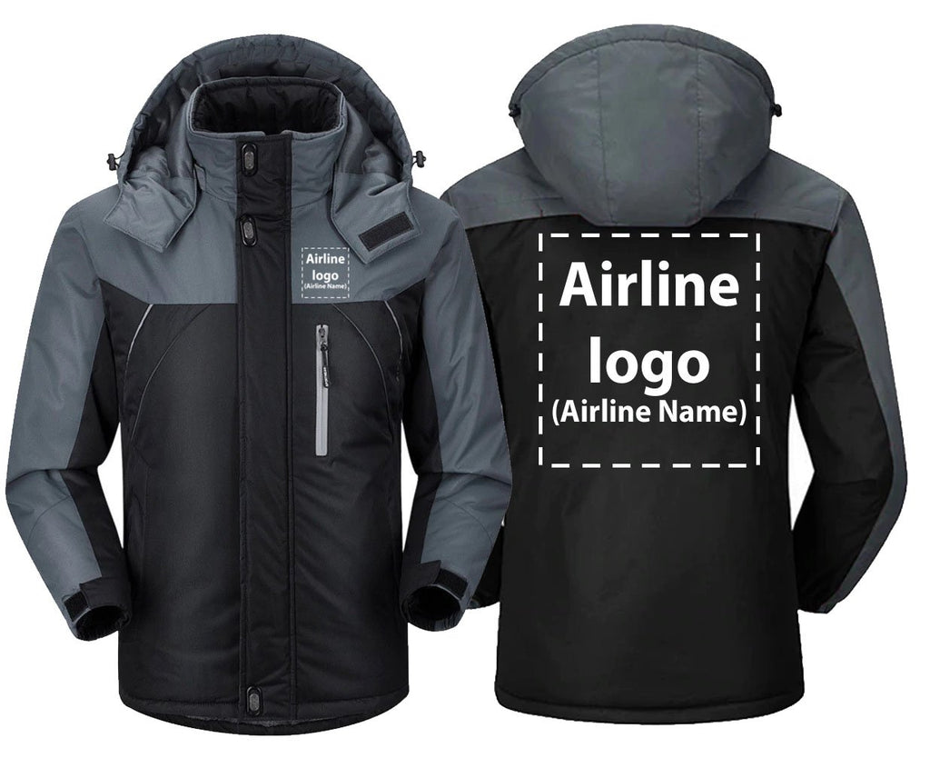 CUSTOM AIRLINE LOGO OR NAME DESIGNED - Black Gray / S -