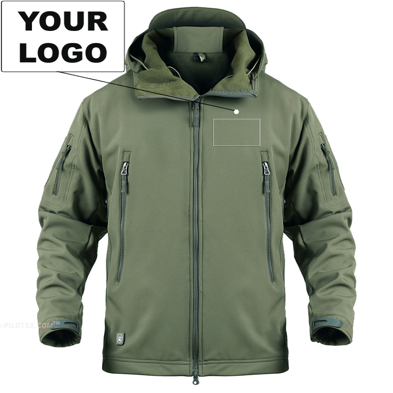 AIRPLANE LOVER Military Fleece Army Green / S CUSTOM LOGO - WARM TACTICAL MILITARY FLEECE