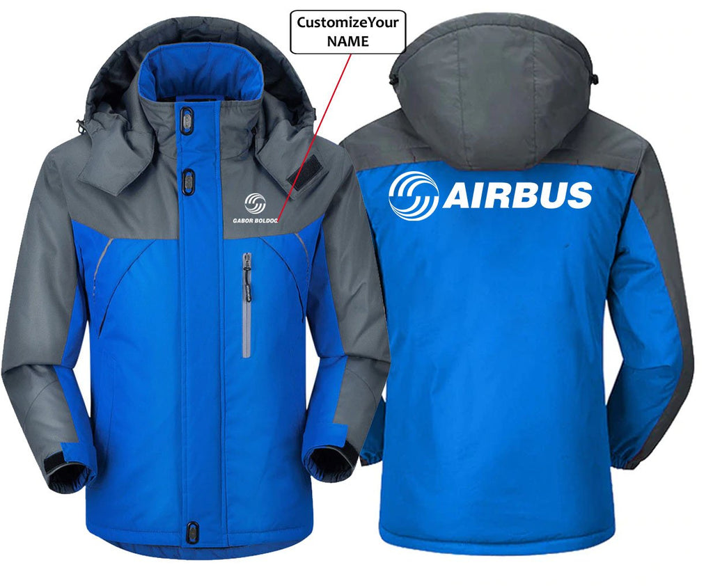 CUSTOM NAME AIRBSUS LOGO DESIGNED - Blue Gray / S -