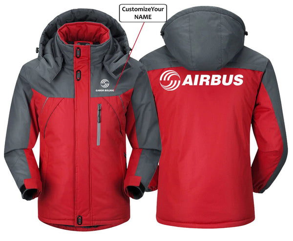 CUSTOM NAME AIRBSUS LOGO DESIGNED - Red Gray / S -