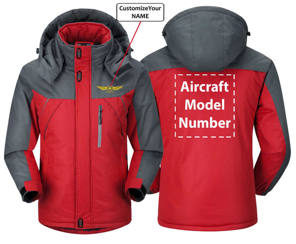 CUSTOM NAME AND AIRCRAFT MODEL NUMBER DESIGNED - Red Gray /