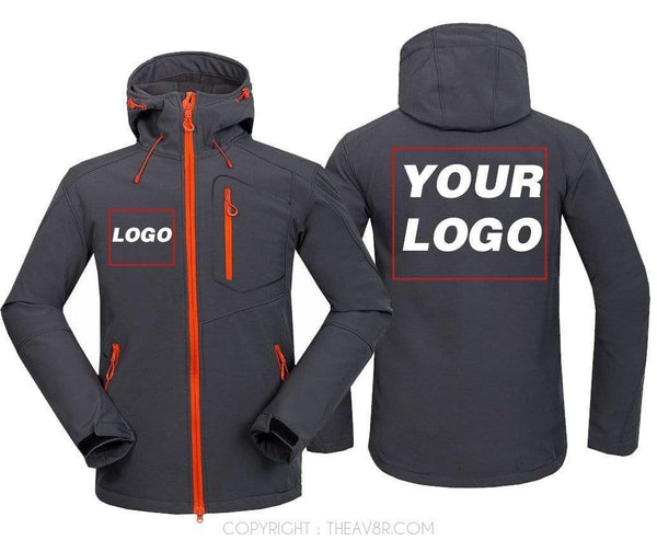 AIRPLANE LOVER Hoodie Jacket Dark Gray / S CUSTOMISE YOUR JACKET