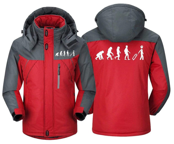 MA1 Windbreaker Jackets Red Gray / XS EVOLUTION OF THE PILOT