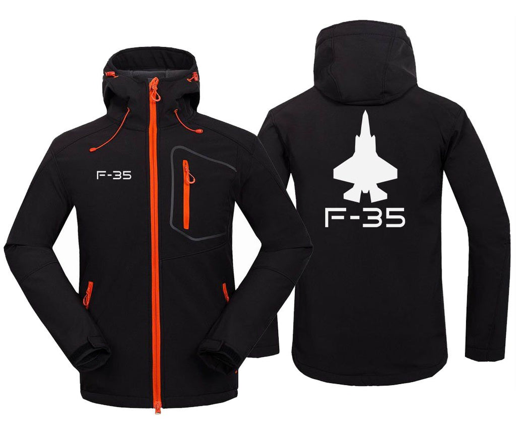 F-3 5 DESIGNED FLEECE - Black / S - Hoodie Jacket