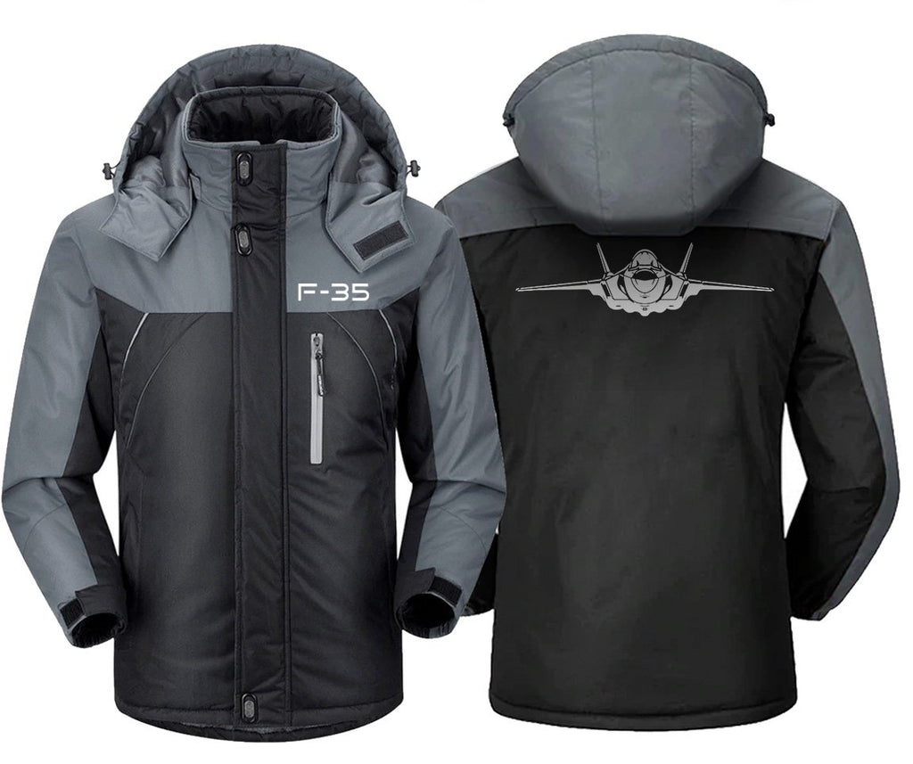 F-3 5 DESIGNED WINDBREAKER - Black Gray / XS - Windbreaker