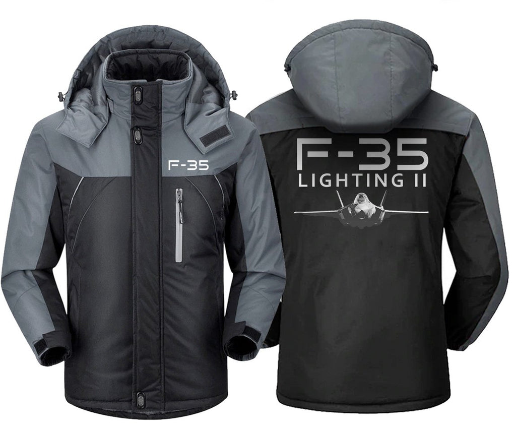 F-35 DESIGNED WINDBREAKER - Black Gray / XS - Windbreaker
