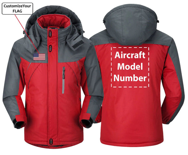 FLAG AND AIRCRAFT MODEL NUMBER DESIGNED - Red Gray / S -