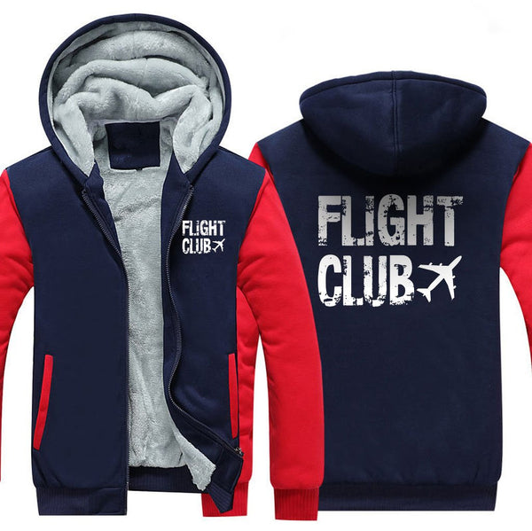 FLIGHT CLUB ZIPPER SWEATER - Red / S - Hoodies