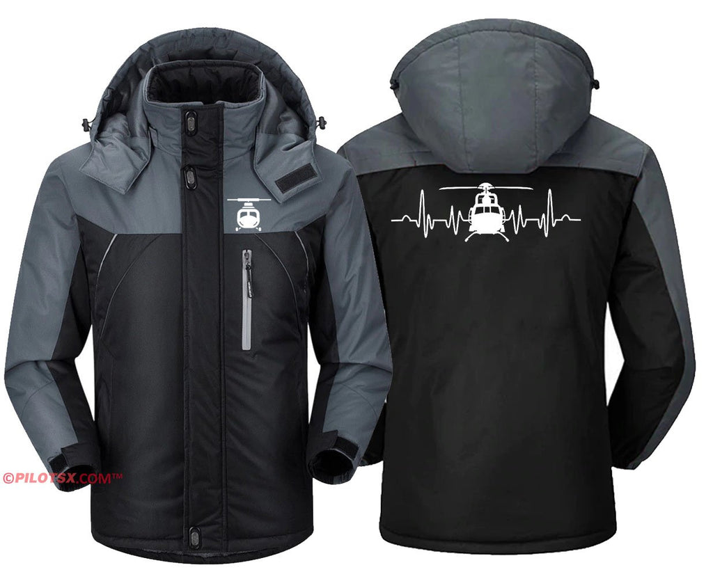 HELICOPTER HEARTBEAT - Black Gray / S - Windbreaker Jackets