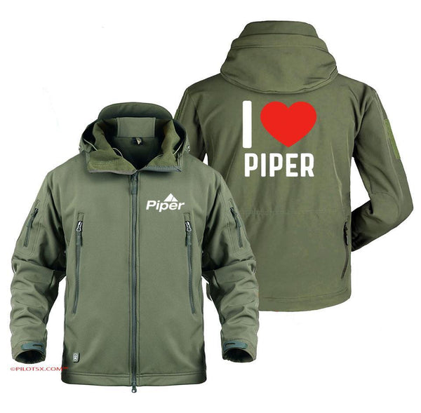 I LOVE PIPER - Army Green / S - Military Fleece