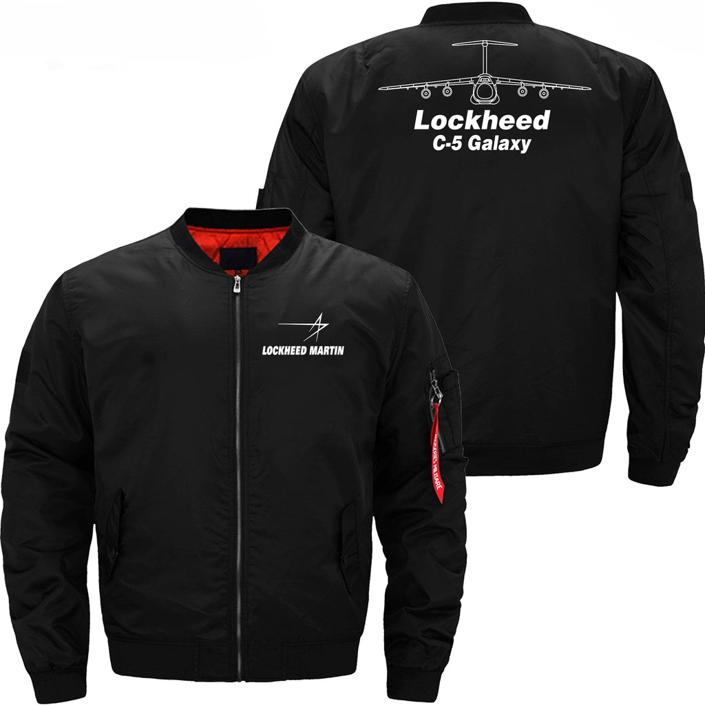 PilotX Jacket Black thin / XS Lockheed C-5 Galaxy -US Size