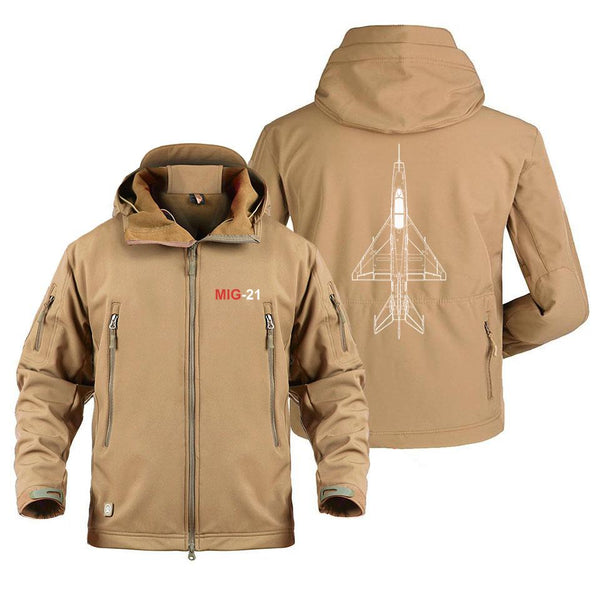M I G 21 DESIGNED MILITARY FLEECE - Sand / S - Military