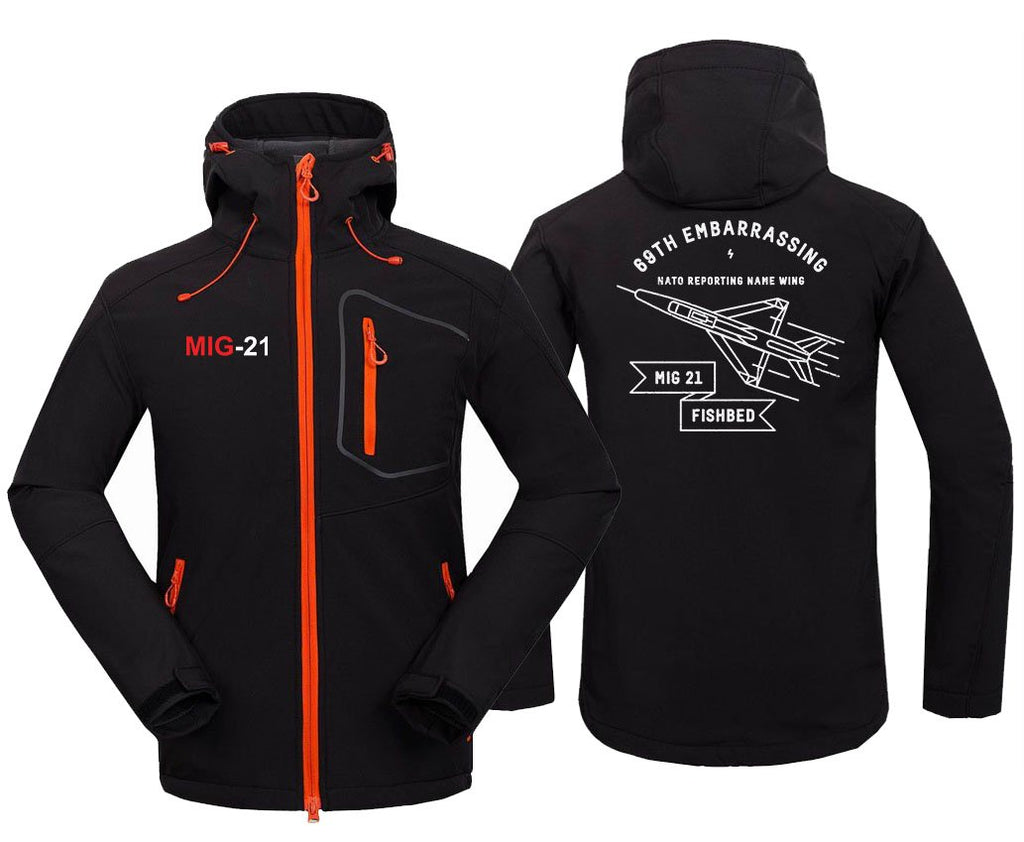 MIG 21 DESIGNED FLEECE - Black / S - Hoodie Jacket
