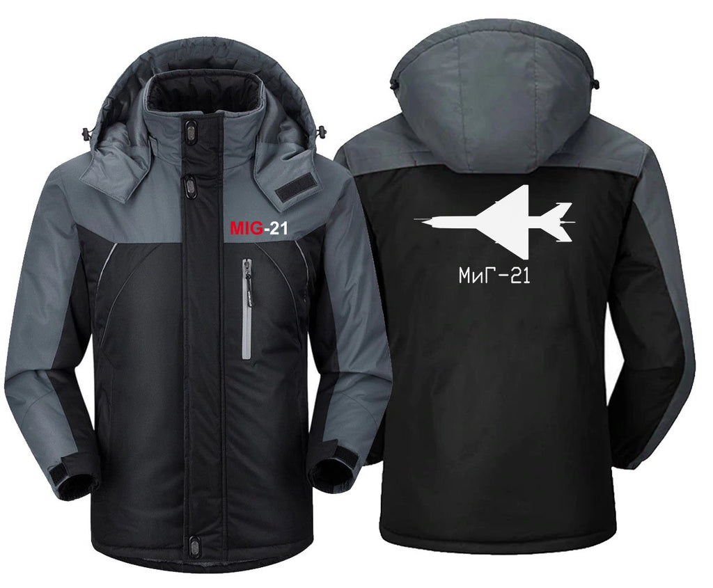 MIG 21 DESIGNED WINDBREAKER - Black Gray / XS - Windbreaker