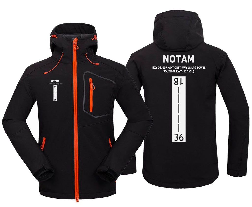 NOTAM DESIGNED FLEECE - Black / S - Hoodie Jacket