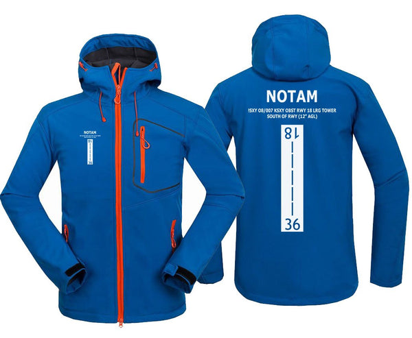 NOTAM DESIGNED FLEECE - Blue / S - Hoodie Jacket