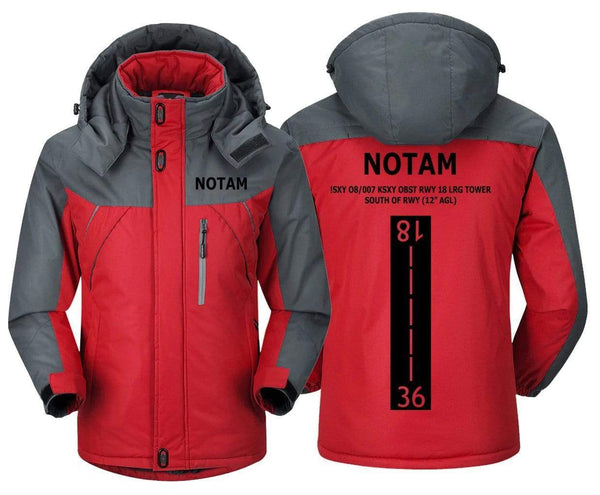 MA1 Windbreaker Jackets Red Gray / XS Notam