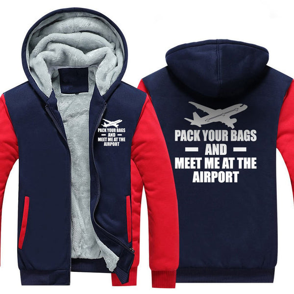 PACK YOUR BAGS AND MEET ME AT THE AIRPORT ZIPPER SWEATER -