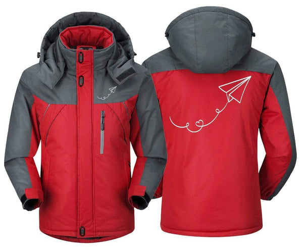 MA1 Windbreaker Jackets Red Gray / XS Paper Plane