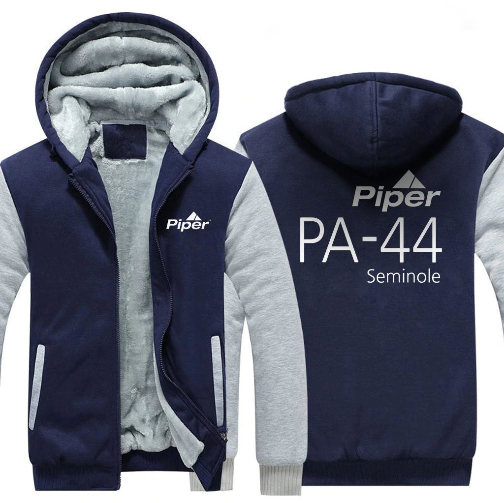 PIPER DESIGNED ZIPPER SWEATER - Blue / S - Hoodies