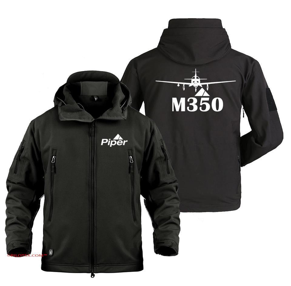 PIPER-M350 AIRCRAFT - Black / S - Military Fleece