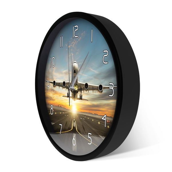 Huge Two Storeys Commercial Jetliner Wall Clock