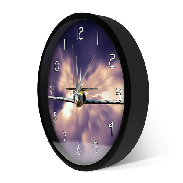 Military Jet Fighter  Wall Clock