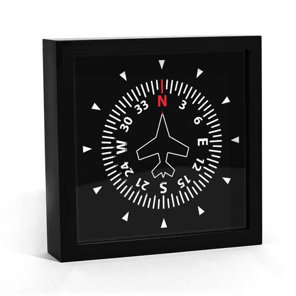Aircraft Instrument Flight Control Panel Clever Clock