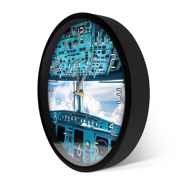 Plane Cockpit Print Wall Art  Wall Clock
