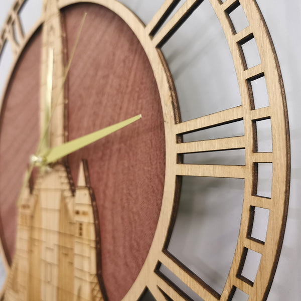 SR-71 Blackbird Aviation Wooden Wall Clock