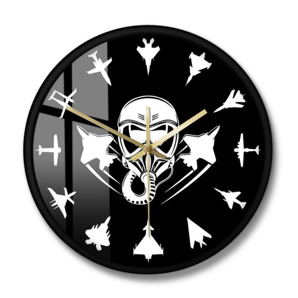 Military Jet Aircraft Modern Wall Clock Jet Fighter