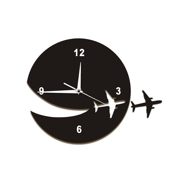 My Plane Flew Away Wall Art Home Decor Wall Clock Flying Plane