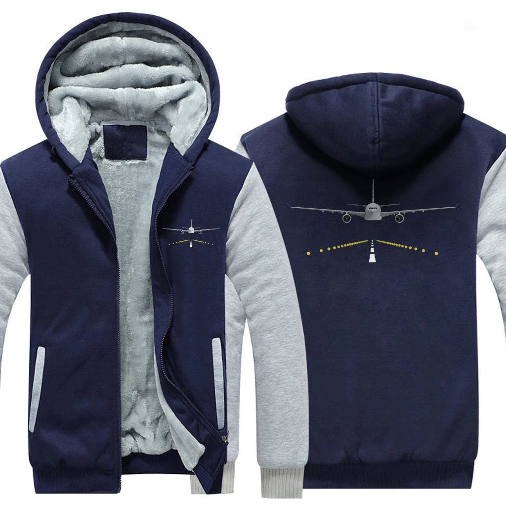RUNWAY DESIGNED ZIPPER SWEATER - Blue / S - Hoodies