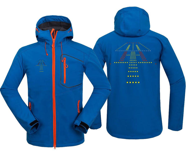 RUNWAY LIGHT DESIGNED FLEECE - Blue / S - Hoodie Jacket