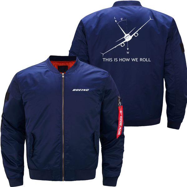 THIS IS HOW WE ROLL B737 DESIGNED - JACKET - Dark blue thin
